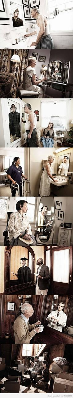 "Novartis ""Reflections"" Campaign - I love this so much  This makes me so sad and happy at the same time..."
