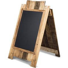 A-frame Write-on Framed Chalkboard Sidewalk Sign with Rustic Finish for…