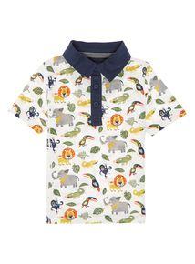 Boys Multicoloured Animal Print Polo (9 months-5 years)