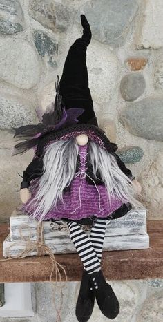 Salty Harbor Treasures Halloween Crochet Patterns, Halloween Sewing, Fall Halloween, Halloween Crafts, Halloween Decorations, Imprimibles Halloween, Adornos Halloween, Christmas Knomes, Gnomes For Sale