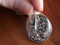 Hand engraved pendant in brass by mitchell lurth featured artists gorgeous hand engraved pendant from j bower engraving aloadofball Gallery