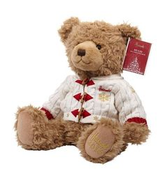 Harrods Hugh Christmas Bear 2016 ~ Celebrate the most wonderful time of year with Hugh, the Harrods 2016 Christmas bear. Dressed in his cosy snowflake-pattern cardigan, Hugh loves nothing more than spreading festive cheer with kindness and cuddles.