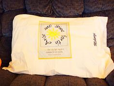 """Young Women 2012 Theme: """"Arise and Shine Forth"""" Pillow Case...great to make for camp"""