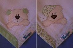 Kit Fralda de Boca com 02 unidades em tecido duplo (04 camadas para melhor absorção) 100% algodão com patch apliqué e bainha em tecido. *As fraldinhas também podem ser personalizadas escolhendo o tema e a cor do tecido para montar o kit. R$24,90