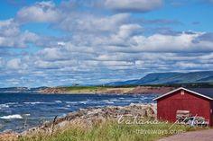 Atlantic ocean viewed from Mabou, Cape Breton