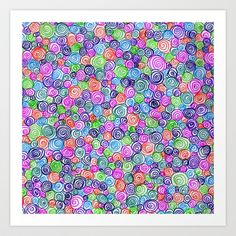 Do the Twist (bright) Art Print by Shawn Terry King - $16.00