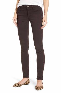 Main Image - Mavi Jeans Adriana Stretch Skinny Jeans (Wine Twill)