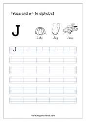 Alphabet Tracing Worksheet - Alphabet Tracing Sheets - Small Letter j Free Printable Alphabet Worksheets, Alphabet Writing Worksheets, Alphabet Writing Practice, Letter Worksheets For Preschool, Alphabet Tracing, Tracing Sheets, Hindi Worksheets, Learning Letters, Alphabet Letters