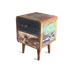 NOVICA Reclaimed teakwood side table ($370) ❤ liked on Polyvore featuring home, furniture, tables, accent tables, decor, side tables, brown, homedecor, brown end table and teak furniture