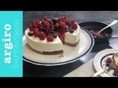 Τσιζκεικ με γιαούρτι (Cheesecake) • Keep Cooking by Argiro Barbarigou - YouTube Cheesecake, Sweets, Greek Recipes, Fruit, Desserts, Food, Youtube, Sweet Pastries, Meal