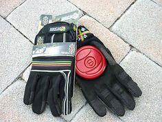*NEW* Sector 9 Rasta BHNC Slide Gloves Longboard Skateboard Small / Medium S/M