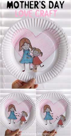 Mother-Child Love Craft Muttertag Liebe Handwerk Handwerk Crafts for Kids Mothers Day Crafts For Kids, Easy Crafts For Kids, Toddler Crafts, Preschool Crafts, Art For Kids, Preschool Teachers, Preschool Kindergarten, Kids Fun, Crafts Toddlers