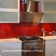 Rich red Glass Splashback Gold Coast... Glass Splashbacks, Red Glass, Gold Coast, Kitchen Appliances, Home, Diy Kitchen Appliances, Home Appliances, Appliances, Ad Home