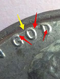 Here is a 1971 S Lincoln Penny with Die break and DDO errors. The DDO error on this coin is the double letter on the year The one with a yellow arrow is a die break as there is a separation in between the edge of the coin with where the arrow was located.