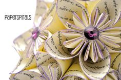 Kusudama  Love Never Fails  Origami Flower Ball  by PaperSpirals