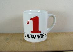 Number 1 Lawyer Coffee Mug / Pencil Holder for by vintagetransfers