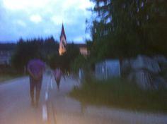 Passeggiata al tramonto...