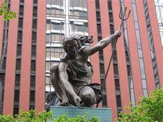The very first Portlandia - The Portlandia Statue in downtown Portland, Oregon #Portlandia