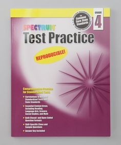 Spectrum Test Practice Grade 4 Workbook Paperback #zulily #zulilyfinds