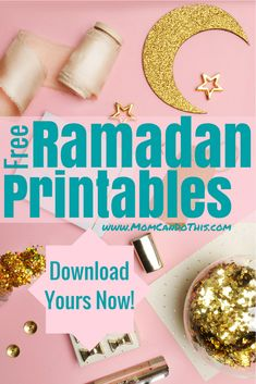 Free Ramadan Printables. Ramadan kareem cards, 30 Days of Ramadan Gratitude Challenge, Workbook, Ramadan bunting, download your free Ramadan printables now. Click through and get access!