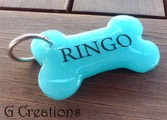 BLACK FRIDAY SALE 25% off #discount #coupon #code BLACKFRIDAY2014 Turquoise Bone Dog Tag  Waterproof Cute by GabriellesCreations