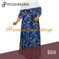 Print design plus size maxi dress Plus size print maxi dress with pockets Dresses Maxi