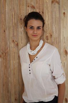 Белое ожерелье Madilyan