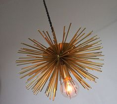 Retro Brass Hanging Spike Pendant Light Metal Lamp by mysecretlite