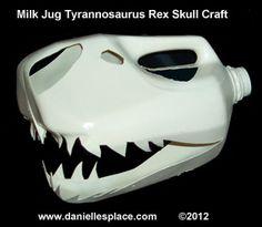 Milk Jug Tyrannosaurus Rex Skull Craft
