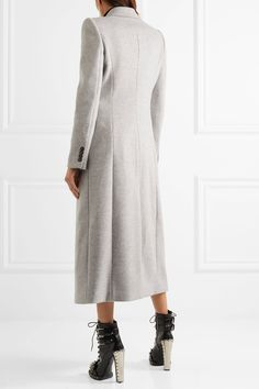 Alexander McQueen | Brushed-wool coat | NET-A-PORTER.COM