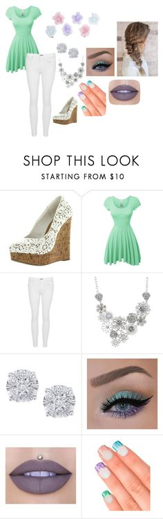 """""""Pastel Gurl"""" by geekfriends on Polyvore featuring LE3NO, rag & bone, Bold Elements, Effy Jewelry, Jeffree Star, Elegant Touch and Monsoon"""