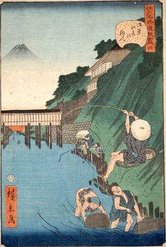 Japanese Drawings, Japanese Prints, Japan Picture, Japan Painting, Traditional Japanese Art, Art Japonais, Japan Art, Graphic Design Posters, Woodblock Print