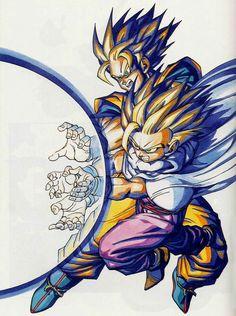 Goku & Gohan #dragonball #dbz