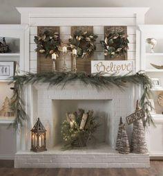 Christmas Fireplace Decor