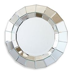 Two's Company® A in sworth Round Beveled Wall Mirror