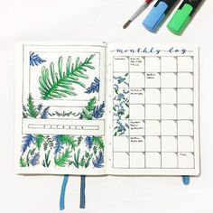 Beautful flower monthly bullet journal front page