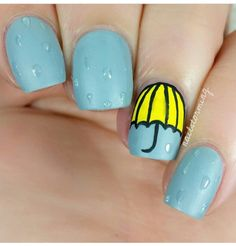 Rainy Nails by nailstorming @nailstorming