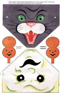 More vintage printable masks.