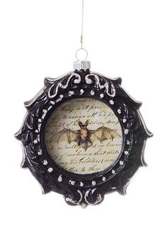 Bat Cameo Glass Ornament - I have some ornament frames that would be perfect for this.  Never got around to decorating them for Christmas.