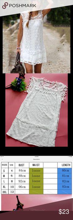 White Lace Mini Dress❤️❤️HP❤️❤️ I grave S,M,L and XL. Please check the last photo for sizes and measurements Dresses Mini