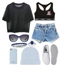 """""""BLUE   S K Y"""" by luhemmings ❤ liked on Polyvore featuring Victoria's Secret PINK, Vans, Levi's, Bulgari, Kobelli, Suzy Levian, Isaac Mizrahi and Loro Piana"""