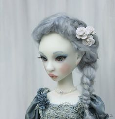 Artist BJD ooak Cerridwen, full set white skin #1, slim MSD 40 cm, art doll of resin by miradolls