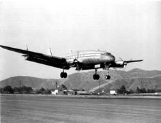 The Connie in this picture is PanAm NC88858 landing at Burbank Airport in 1946. There are only 3 engines, #4 engine caught on fire on climb out on a flight from the U.S. to London on June 18, 1946. The fire eventually became uncontrollable and burned through the engine mount, resulting in the entire engine leaving the airplane. The plane returned to the U.S. and landed with no problems.