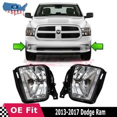 Fit Winjet 03-05 Toyota 4Runner OE Fog Lights Left Right Pair LH RH Yellow