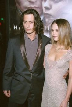 "Johnny Depp and Vanessa Paradis at event of ""Sleepy Hollow"" (1999)"