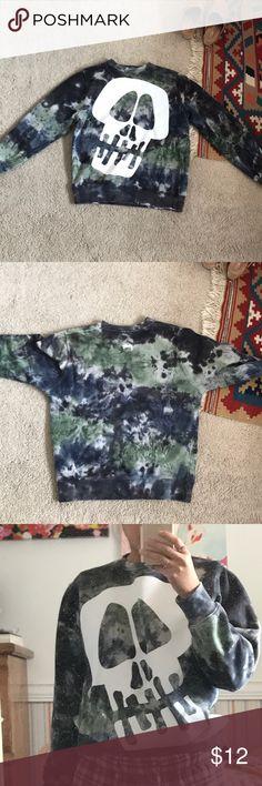 Stussy skull sweater Stussy skull sweater. Dyed. Worn Stussy Sweaters Crew & Scoop Necks