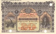 Bank Of India, East Africa, Tanzania, The Twenties, Vintage World Maps, Coins, Banknote, Postcards, Stamps
