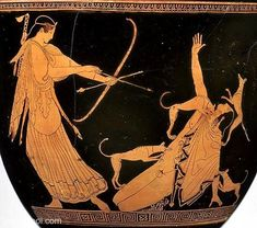 Artemis, Actaeon & the dogs | Greek vase, Athenian red figure bell krater