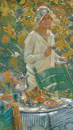 ⊰ Posing with Posies ⊱ paintings of women and flowers - William de Leftwich Dodge  Portrait of the Artist's Daughter  1929