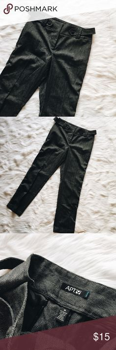 🆕 Apt. 9 High-Waisted Dress Pants Apt. 9 High-Waisted Dress Pant. Beautiful gray color with attached belt. Straight leg. Excellent used condition - no flaws. **Smoke free home. Ask questions. Bundle to save both on shipping and total price. Serious and reasonable offers only (no more than 10% of listing price). Not interested in trades ATM. Sharing is caring!** Apt. 9 Pants Trousers